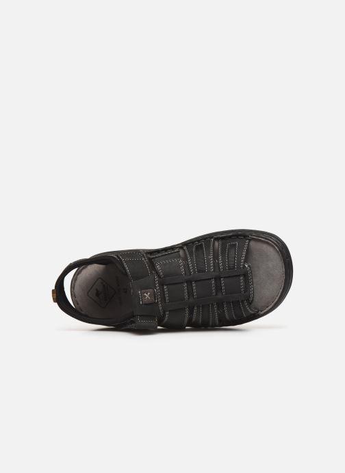 Sandales et nu-pieds Roadsign Garibou Noir vue gauche