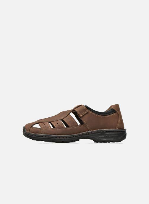 Sandales et nu-pieds Roadsign Garry Marron vue face