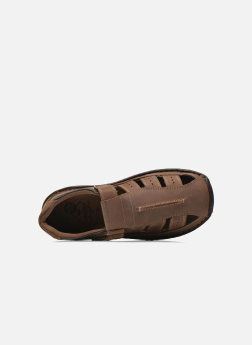 Sandales et nu-pieds Roadsign Garry Marron vue gauche