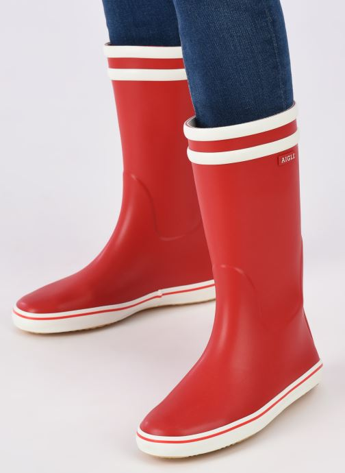 Boots & wellies Aigle Malouine BT Red view from underneath / model view