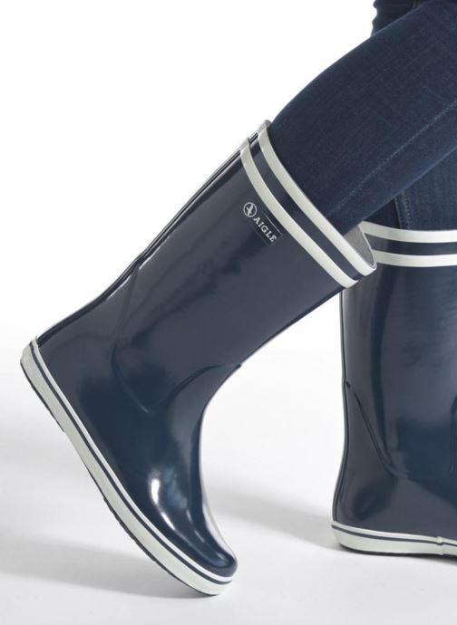 Stiefel Aigle Malouine BT schwarz ansicht von unten / tasche getragen