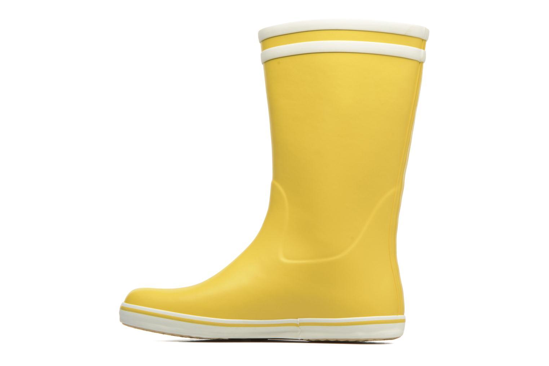 Bottines et boots Aigle Malouine BT Jaune vue face