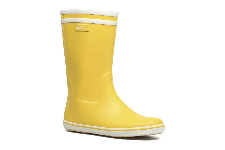 Bottines et boots Aigle Malouine BT Jaune vue détail/paire