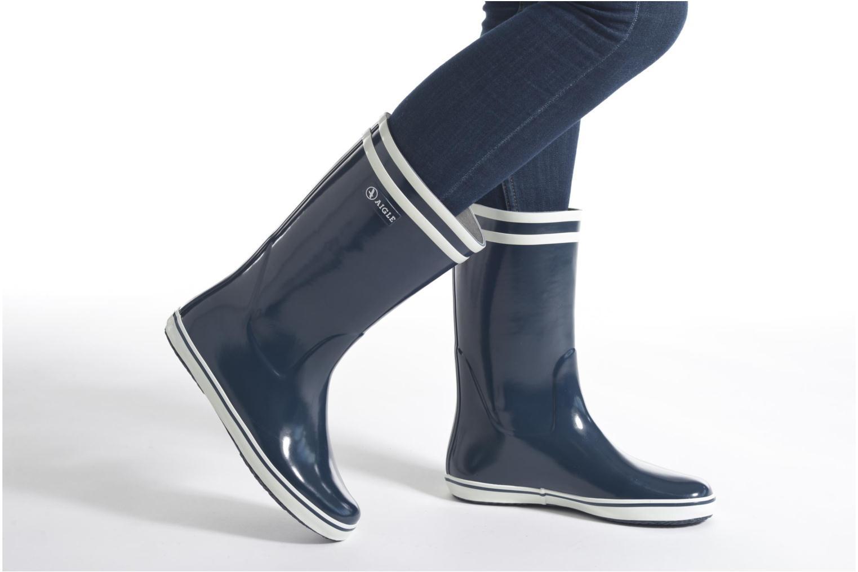 Bottines et boots Aigle Malouine BT Noir vue bas / vue portée sac