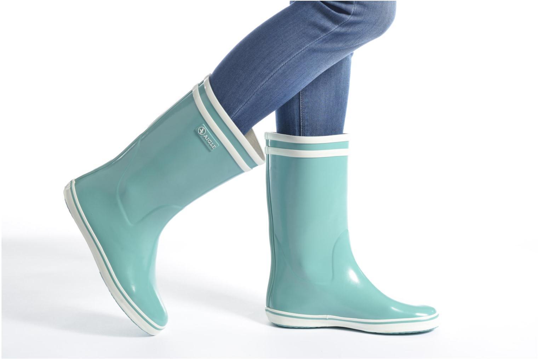 Bottines et boots Aigle Malouine BT Bleu vue bas / vue portée sac