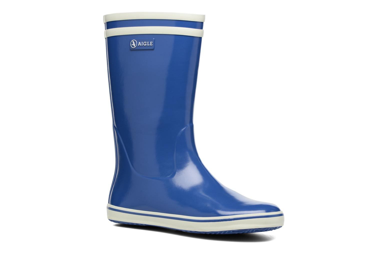 Bottines et boots Aigle Malouine BT Bleu vue détail/paire