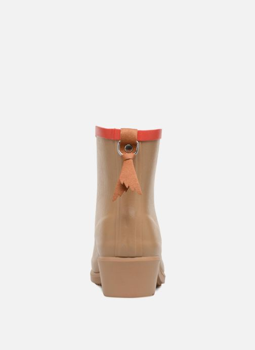 Ankle boots Aigle MS Juliette BOT Beige view from the right
