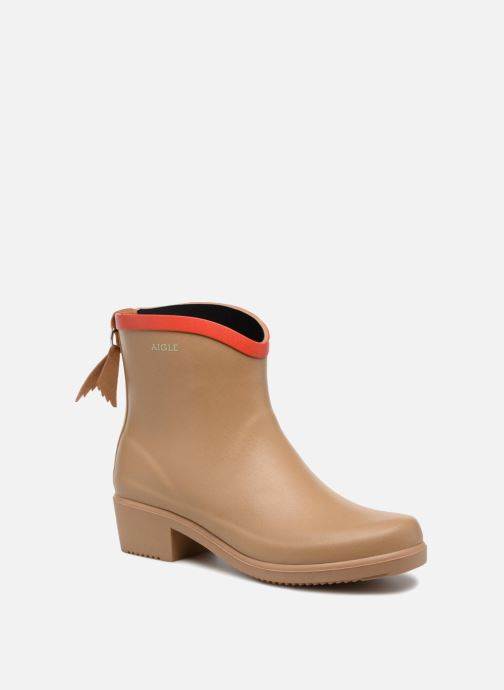 Ankle boots Aigle MS Juliette BOT Beige detailed view/ Pair view