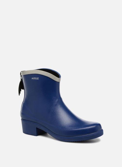 Ankle boots Aigle MS Juliette BOT Blue detailed view/ Pair view