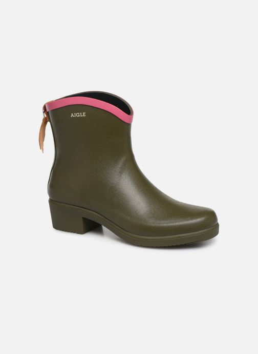 Bottines et boots Aigle MS Juliette BOT Vert vue détail/paire