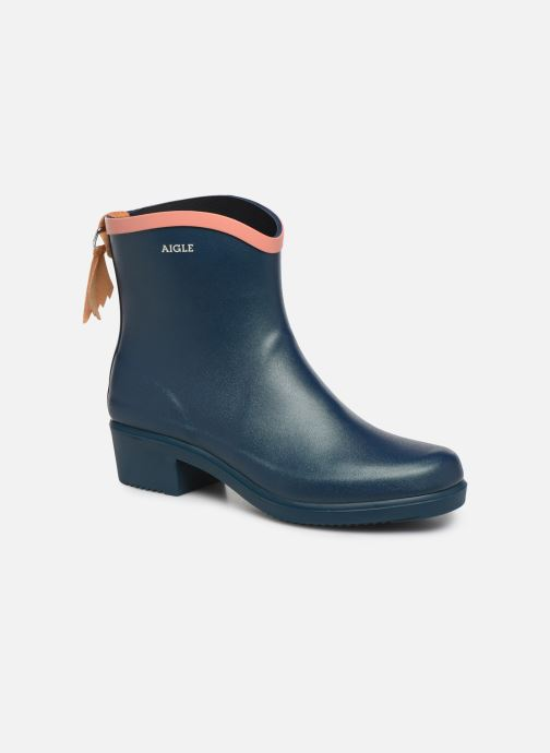 Ankle boots Aigle MS Juliette BOT Blue detailed view/ Pair view