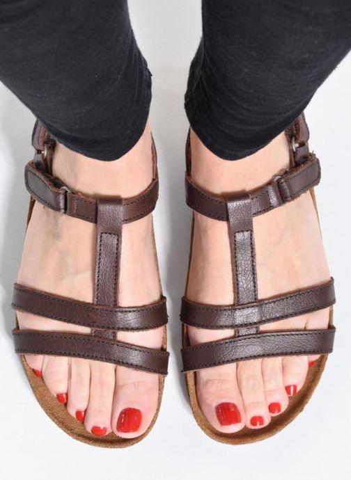 Sandales et nu-pieds Art I Breathe 946 Marron vue bas / vue portée sac