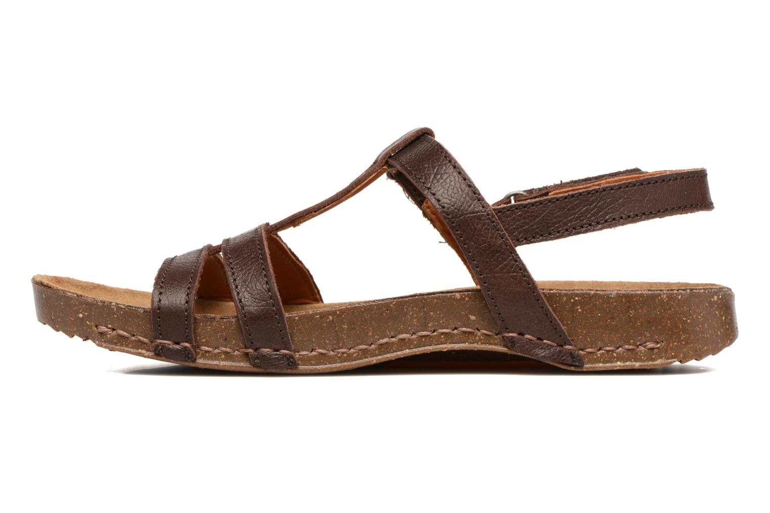 Sandals Art I Breathe 946 Brown front view