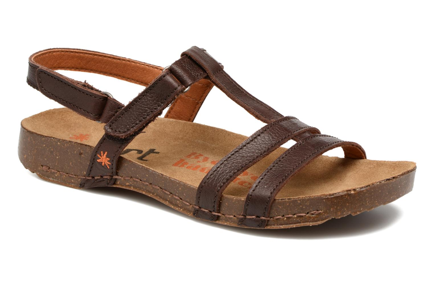 Sandals Art I Breathe 946 Brown detailed view/ Pair view