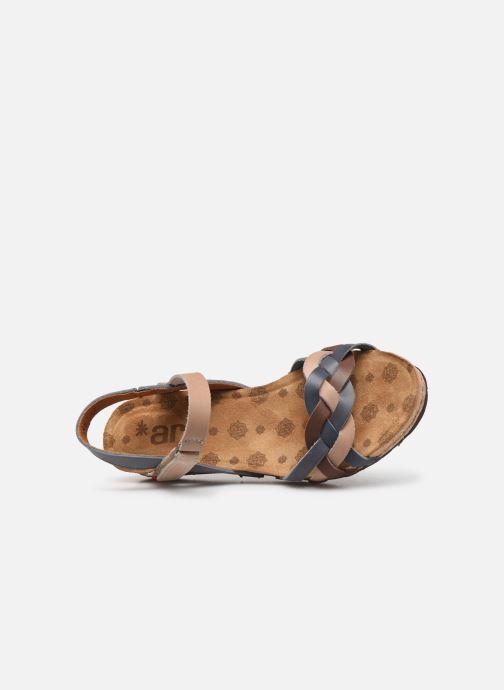 Sandales et nu-pieds Art Pompei 735 Bleu vue gauche