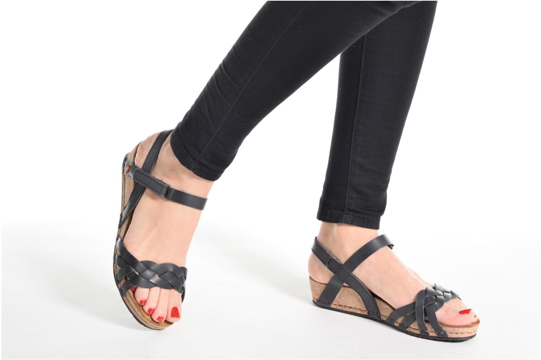 Sandales et nu-pieds Art Pompei 735 Noir vue bas / vue portée sac