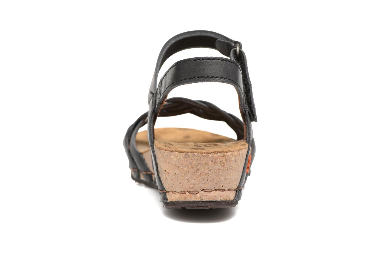 Sandales et nu-pieds Art Pompei 735 Noir vue droite