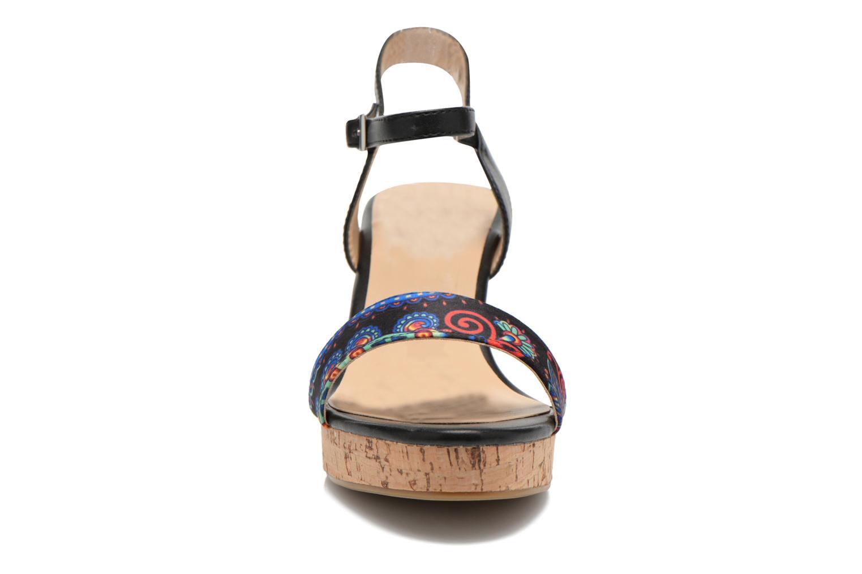 Sandales et nu-pieds Divine Factory Alexina Noir vue portées chaussures