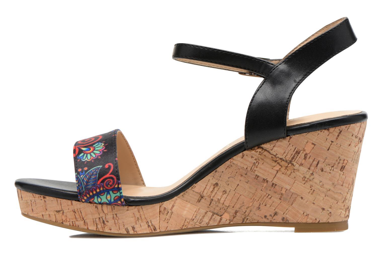 Sandales et nu-pieds Divine Factory Alexina Noir vue face