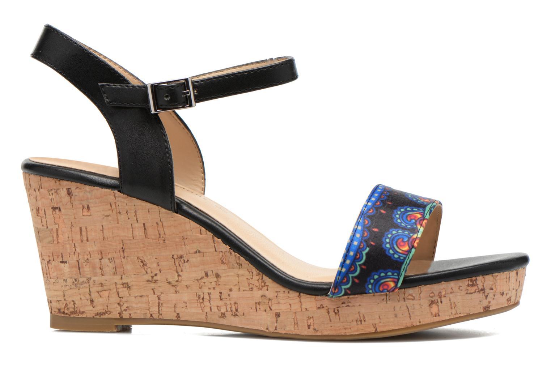 Sandales et nu-pieds Divine Factory Alexina Noir vue derrière