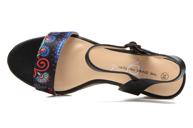 Sandales et nu-pieds Divine Factory Alexina Noir vue gauche