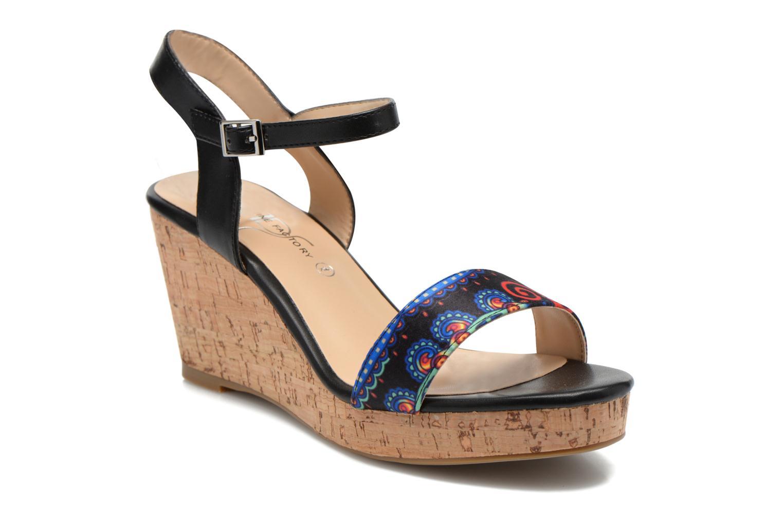 Sandales et nu-pieds Divine Factory Alexina Noir vue détail/paire