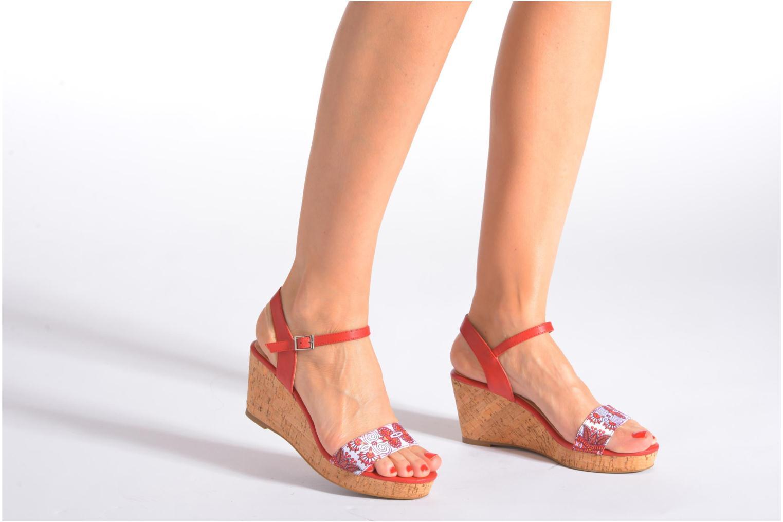 Sandales et nu-pieds Divine Factory Alexina Multicolore vue bas / vue portée sac