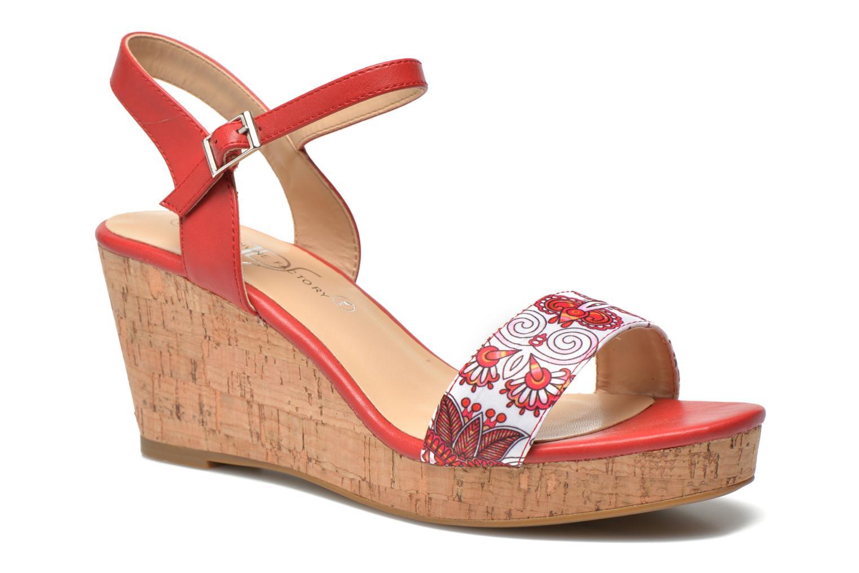 Sandales et nu-pieds Divine Factory Alexina Multicolore vue détail/paire