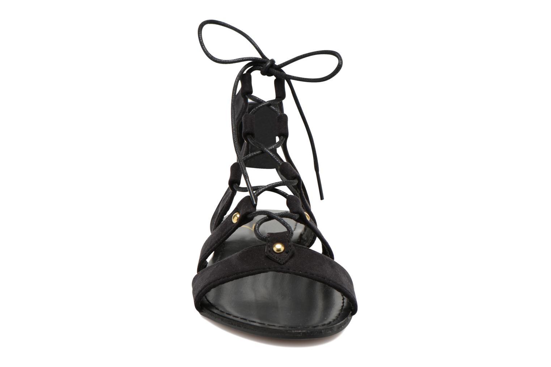Sandales et nu-pieds Divine Factory Agathe Noir vue portées chaussures
