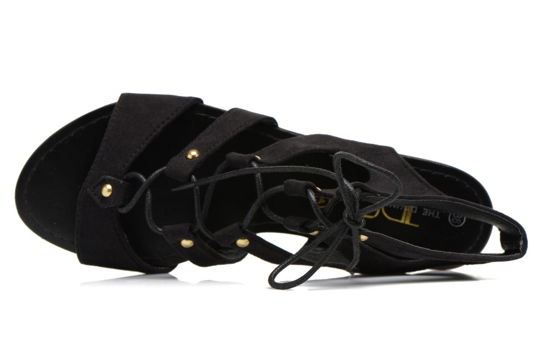 Sandales et nu-pieds Divine Factory Agathe Noir vue gauche