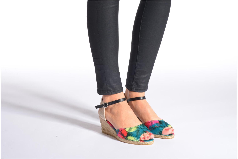 Sandales et nu-pieds Divine Factory Rosanna Multicolore vue bas / vue portée sac