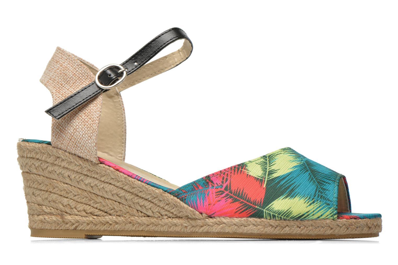 Sandales et nu-pieds Divine Factory Rosanna Multicolore vue derrière