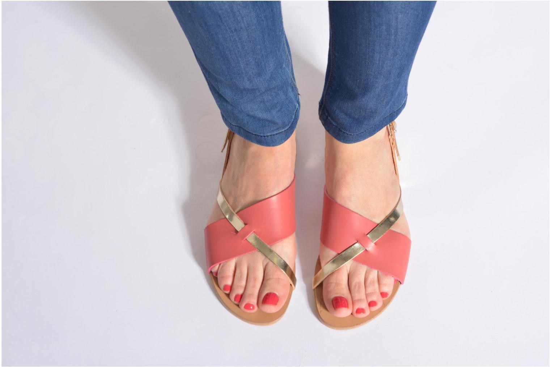 Sandales et nu-pieds Pieces Psjoyce Or et bronze vue bas / vue portée sac