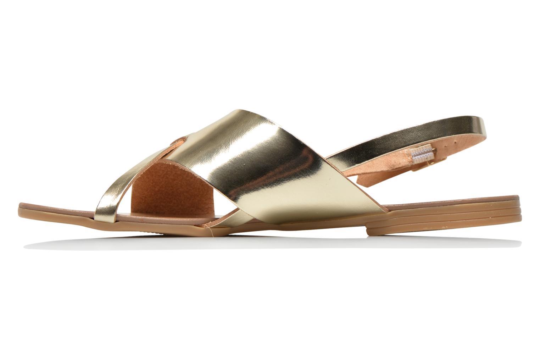 Sandales et nu-pieds Pieces Psjoyce Or et bronze vue face