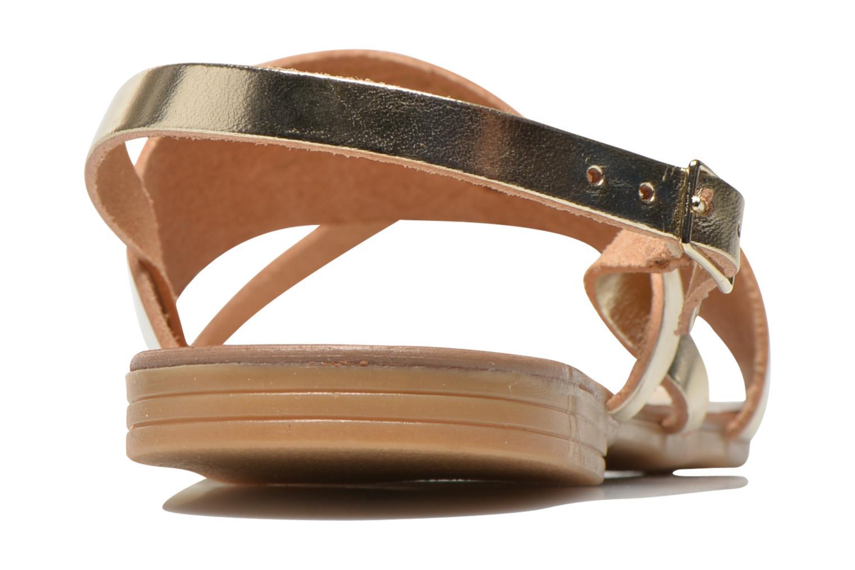 Sandales et nu-pieds Pieces Psjoyce Or et bronze vue droite