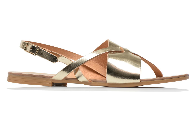 Sandales et nu-pieds Pieces Psjoyce Or et bronze vue derrière