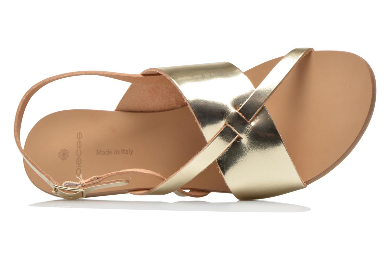 Sandales et nu-pieds Pieces Psjoyce Or et bronze vue gauche