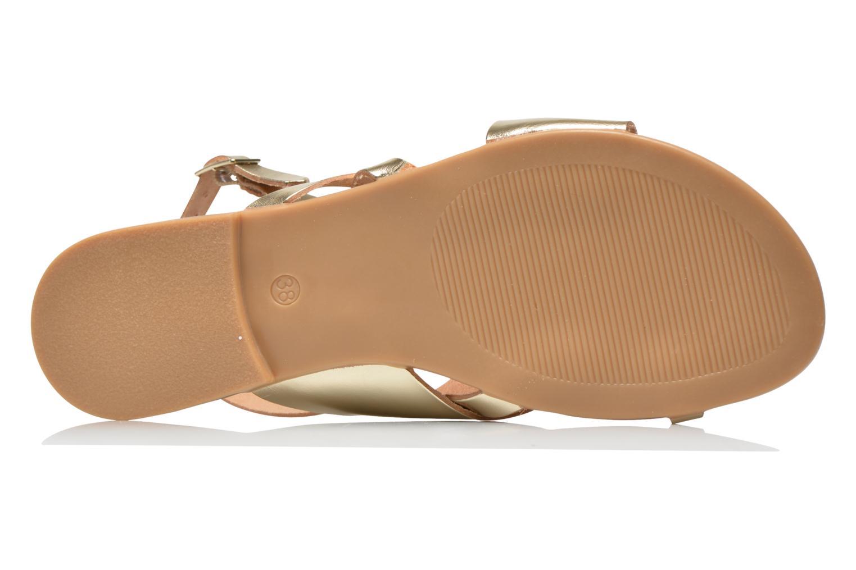Sandales et nu-pieds Pieces Psjoyce Or et bronze vue haut