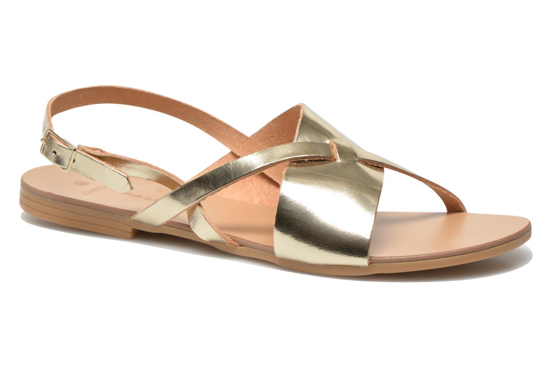 Sandales et nu-pieds Pieces Psjoyce Or et bronze vue détail/paire