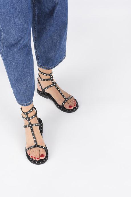 Sandalen Les Tropéziennes par M Belarbi Cassie schwarz ansicht von unten / tasche getragen