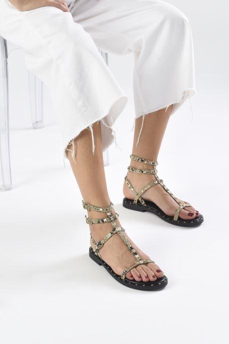 Sandalen Les Tropéziennes par M Belarbi Cassie beige ansicht von unten / tasche getragen