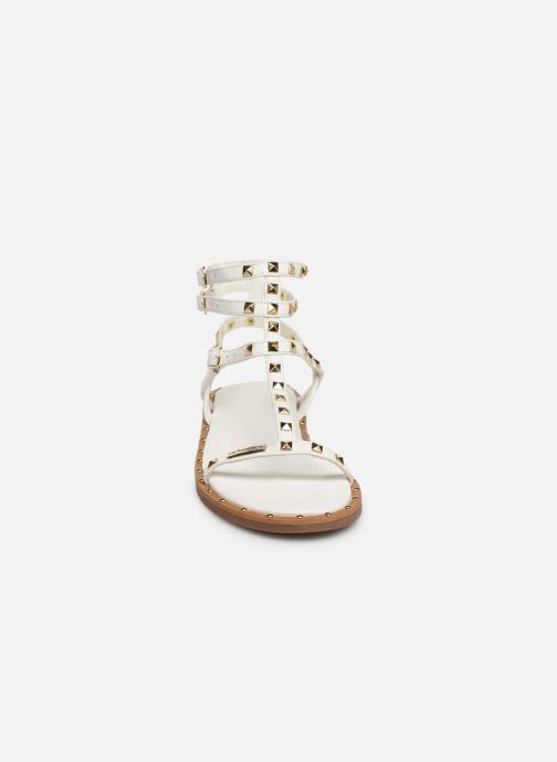 Sandales et nu-pieds Les Tropéziennes par M Belarbi Cassie Blanc vue portées chaussures