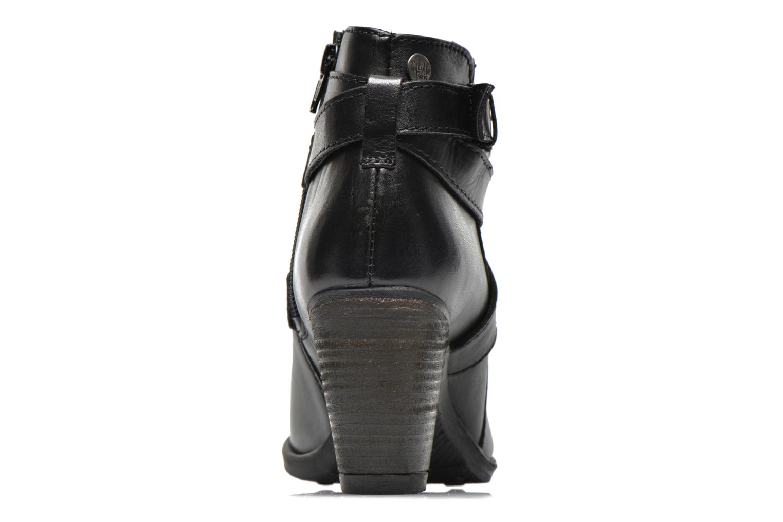 Ankle boots Initiale Paris Marble Black view from the right