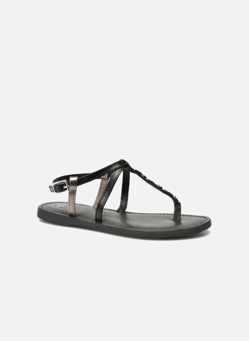 Sandals Initiale Paris Miro Black detailed view/ Pair view