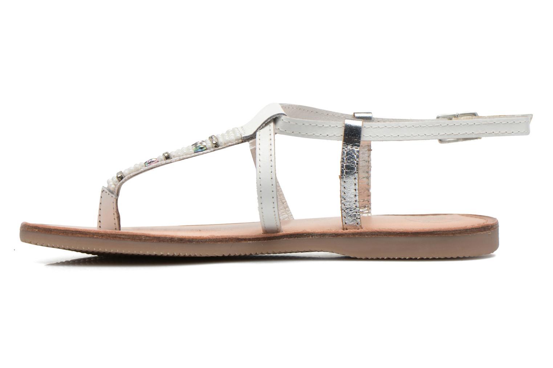 Sandalen Initiale Paris Miro weiß ansicht von vorne