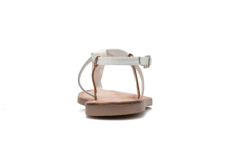 Sandalen Initiale Paris Miro weiß ansicht von rechts