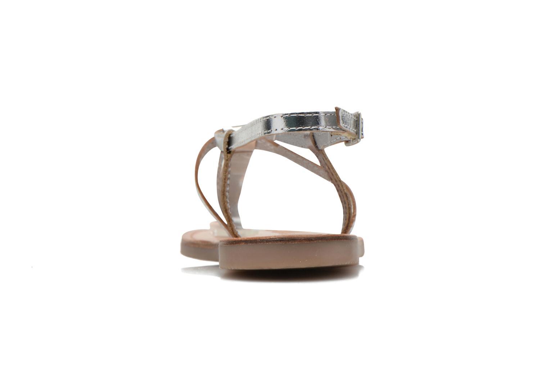 Sandalen Initiale Paris Miro silber ansicht von rechts