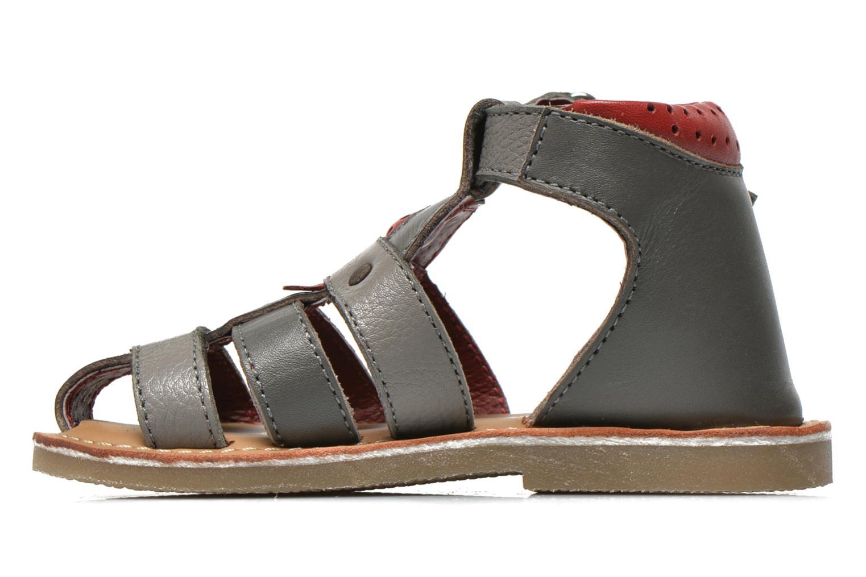Sandales et nu-pieds Sucre d'Orge Kawan Gris vue face