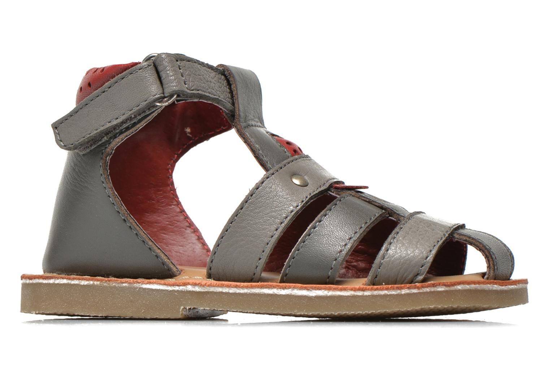 Sandales et nu-pieds Sucre d'Orge Kawan Gris vue derrière