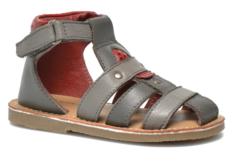 Sandales et nu-pieds Sucre d'Orge Kawan Gris vue détail/paire